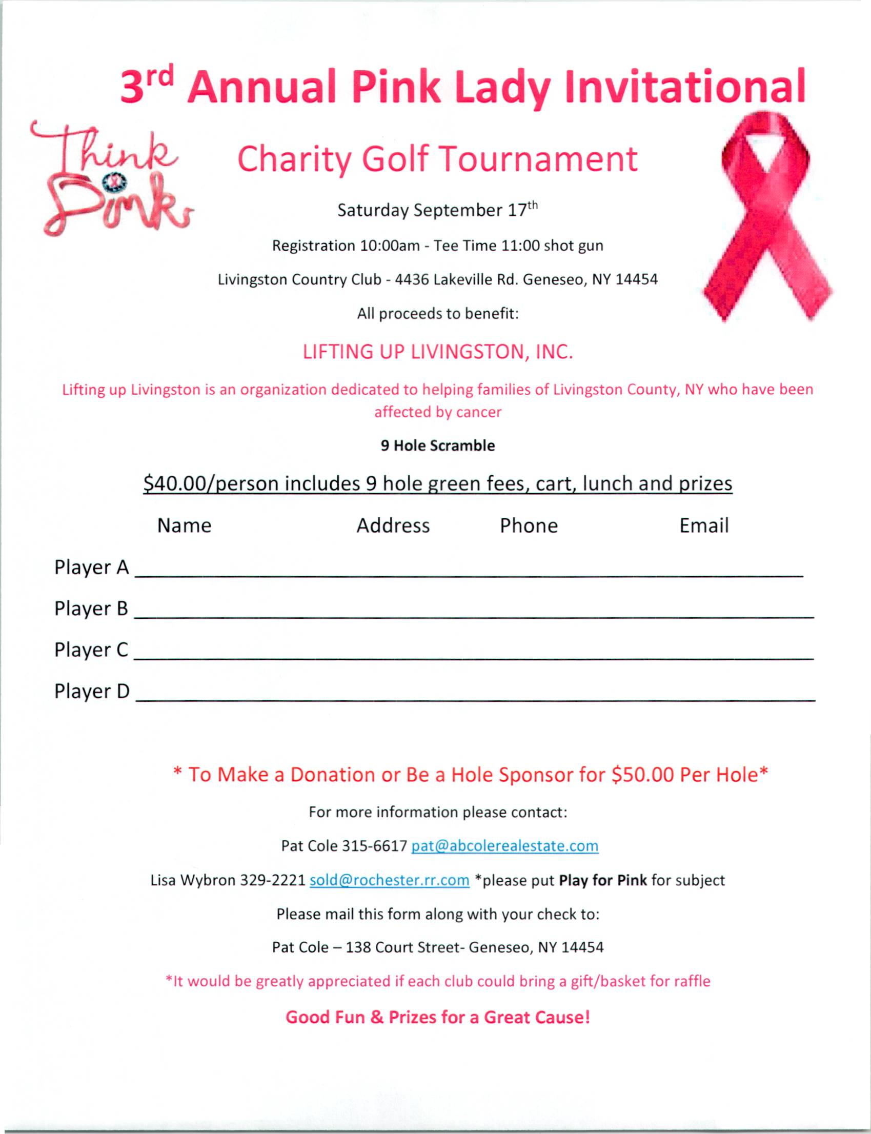 Play for Pink Golf Tournament!