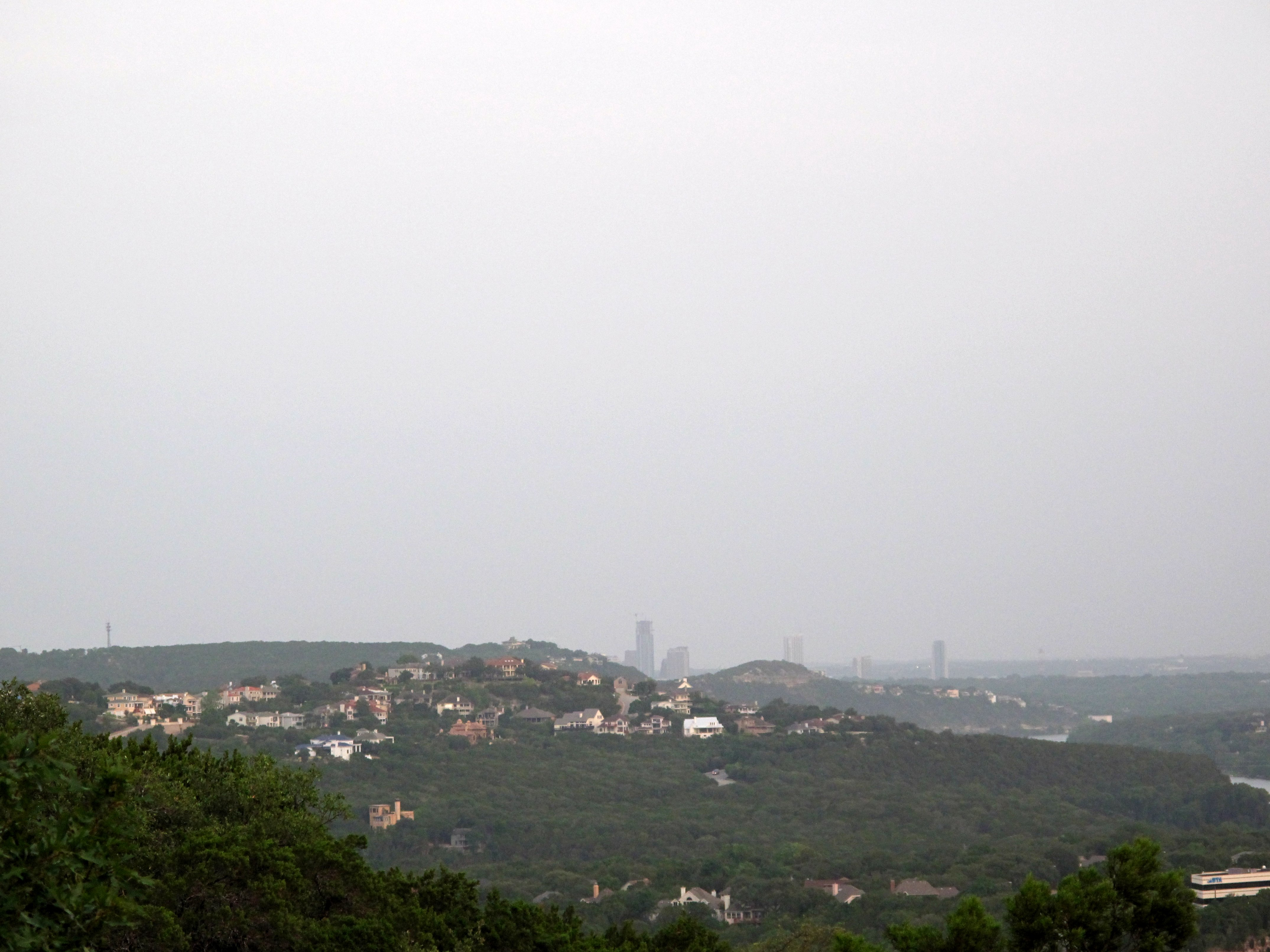 Distant View of Downtown Austin from Northwest Suburbs
