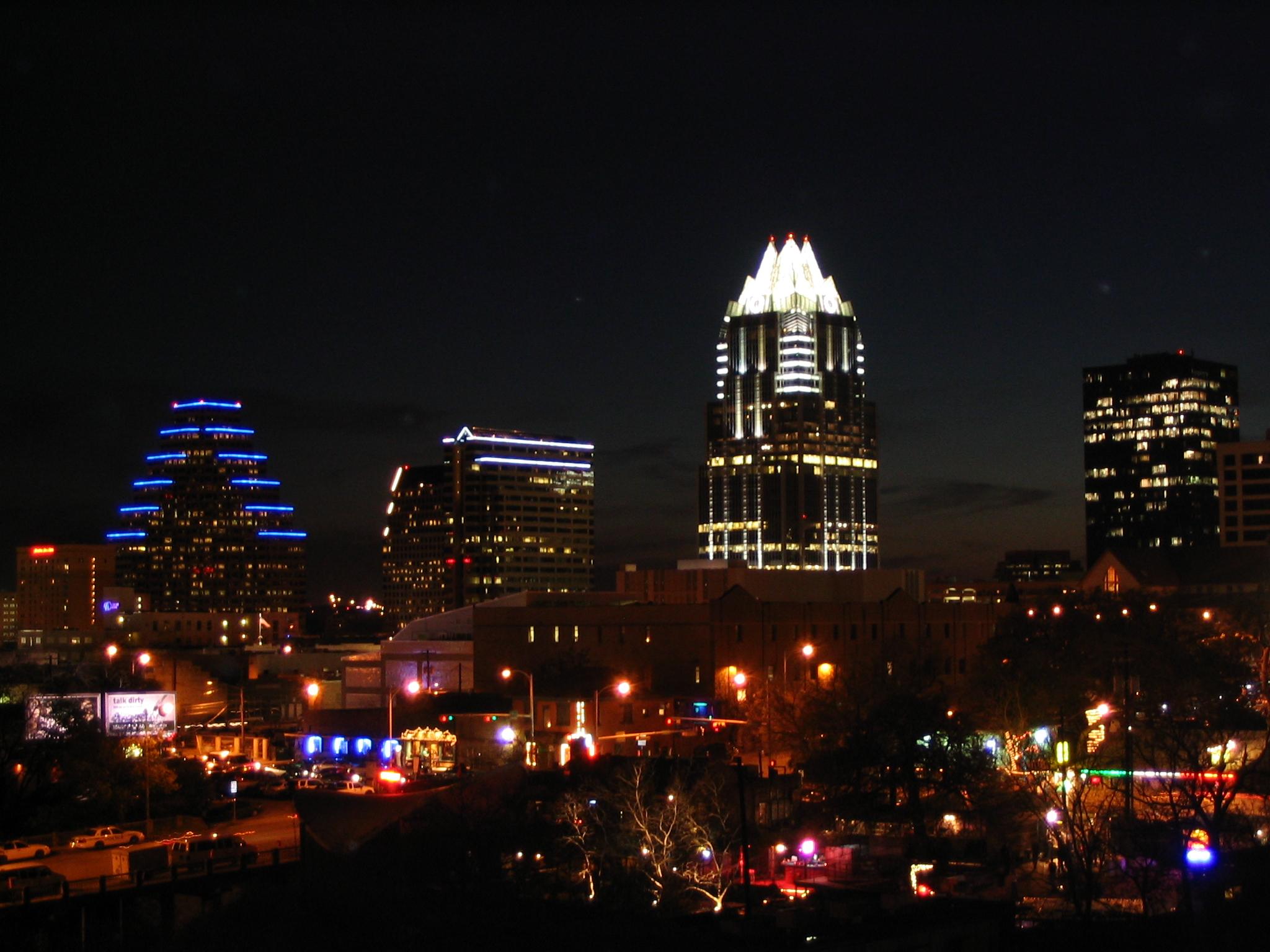 Austin Texas at Night by Ken Lund