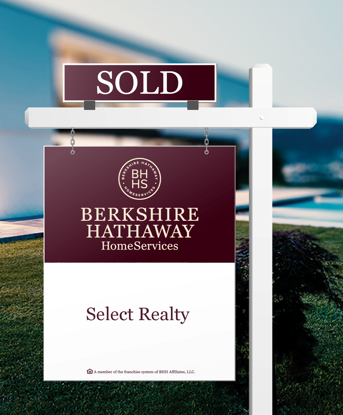 Berkshire Hathaway HomeServices Select Realty yard sign