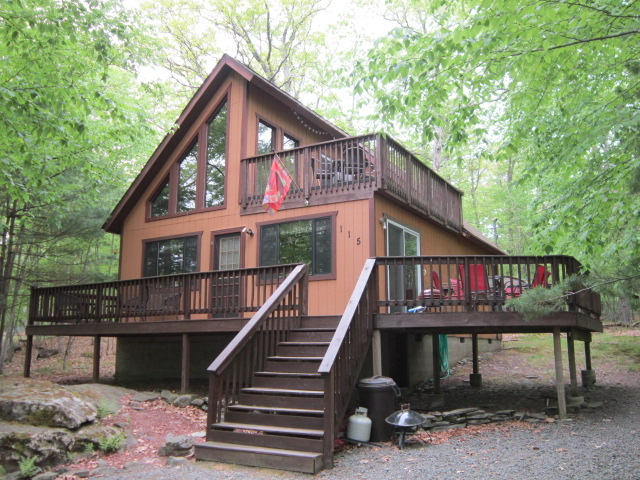NEW LISTING! This Cozy Chalet at Masthope Mountain Could Be Your Dream Vacation Home! Meticulously Maintained; Features 3 Bedrooms and 1 Bathroom. The Open Floor Plan Paired with the Cathedral Ceilings and Wall of Windows Gives This Home A Bright Airy Fee
