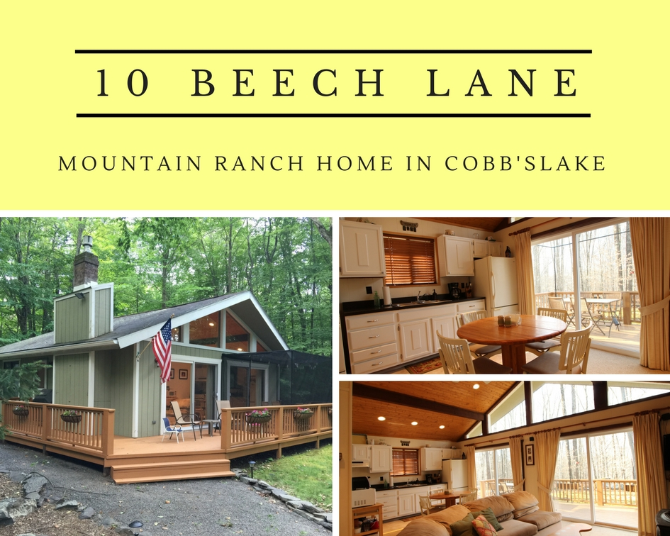 10 Beech Lane: Mountain Ranch Home in Cobb's Lake