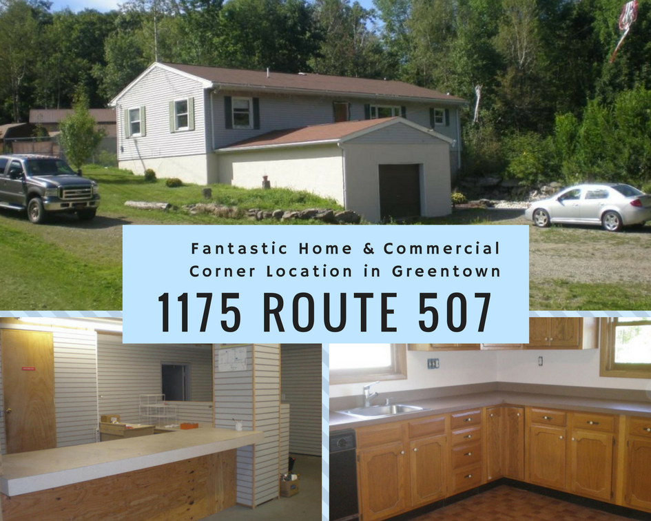 1175 Rt 507: Fantastic Home & Commercial Corner Location in Greentown