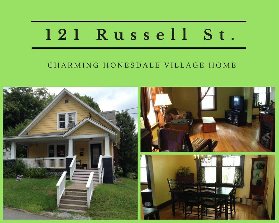 JUST REDUCED! 121 Russell Street: Charming Honesdale Village Home