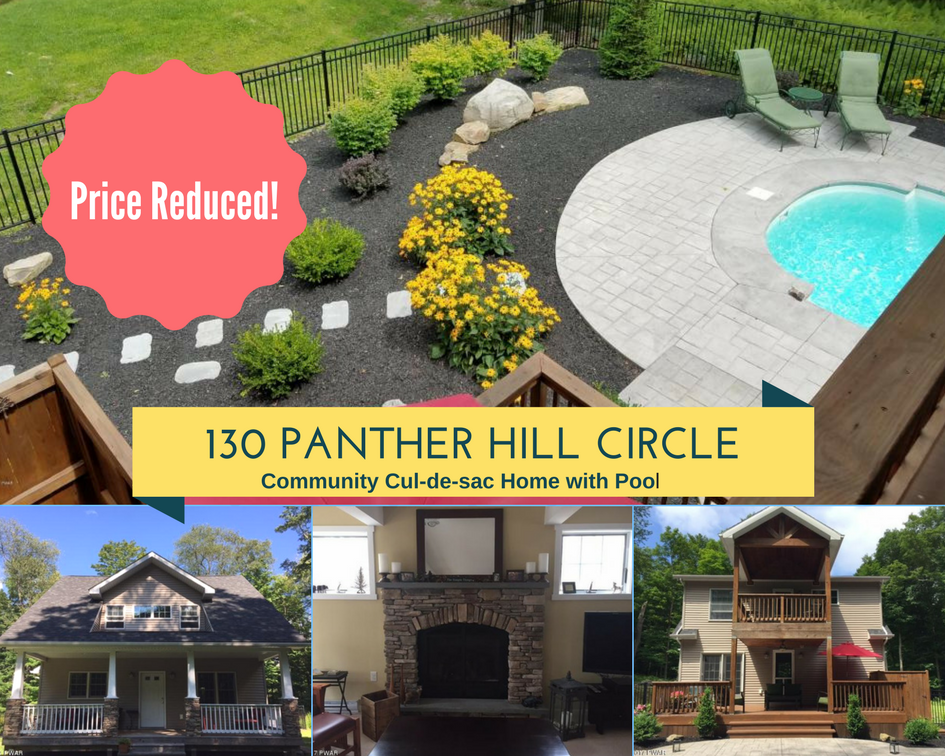 PRICE REDUCED! 130 Panther Hill Circle, Newfoundland PA: Community Cul-de-sac Home with In-ground Pool