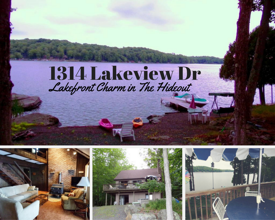 1314 Lakeview Drive, Lake Ariel PA: Lakefront Charm in The Hideout