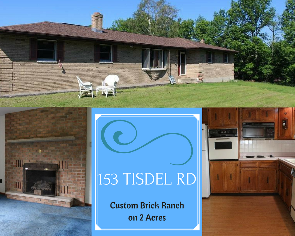 153 Tisdel Road, Lake Ariel PA: Custom Brick Ranch on 2 Acres