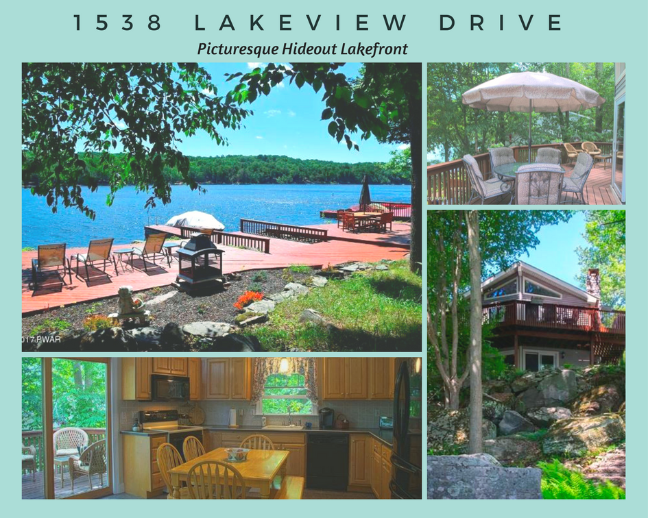 1538 Lakeview Drive, Lake Ariel PA: Picturesque Hideout Lakefront