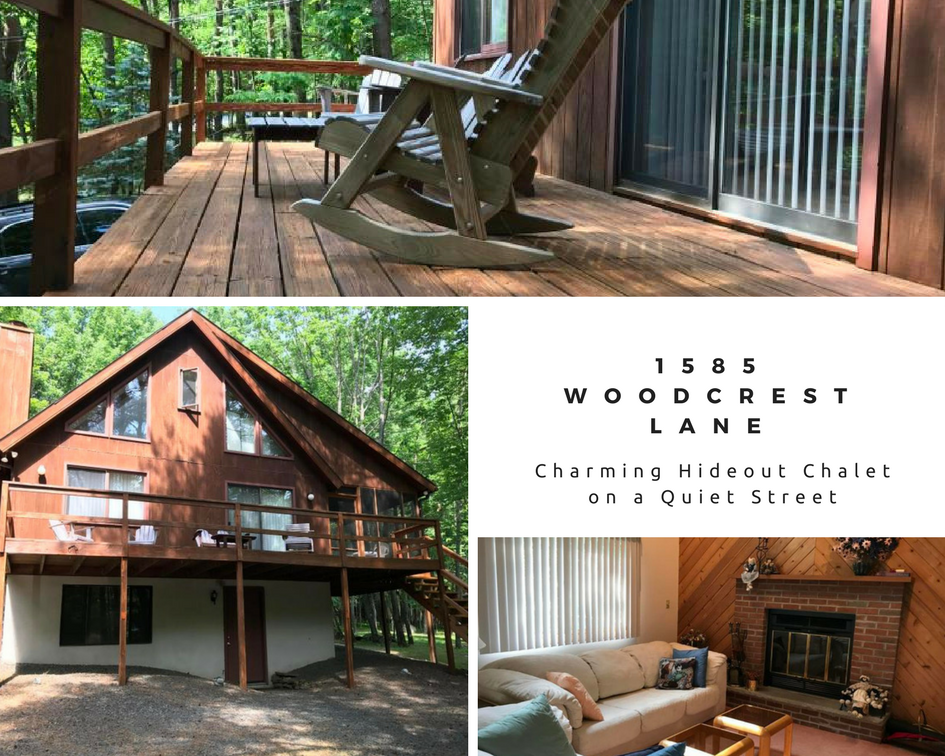 Price Reduced! 1585 Woodcrest Lane: Charming Hideout Chalet on a Quiet Street