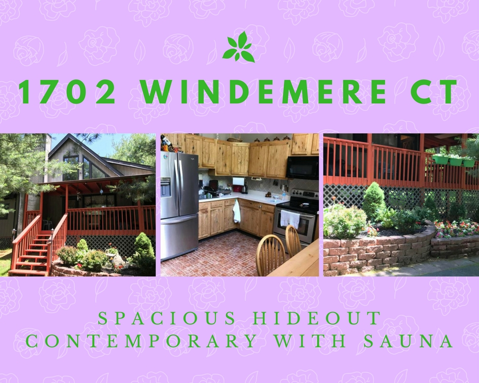 1702 Windemere Court: Spacious Hideout Contemporary with Sauna