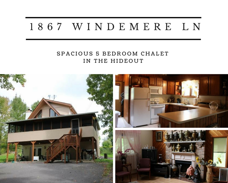 1867 Windemere Lane, Lake Ariel PA: Spacious 5 Bedroom Chalet in The Hideout