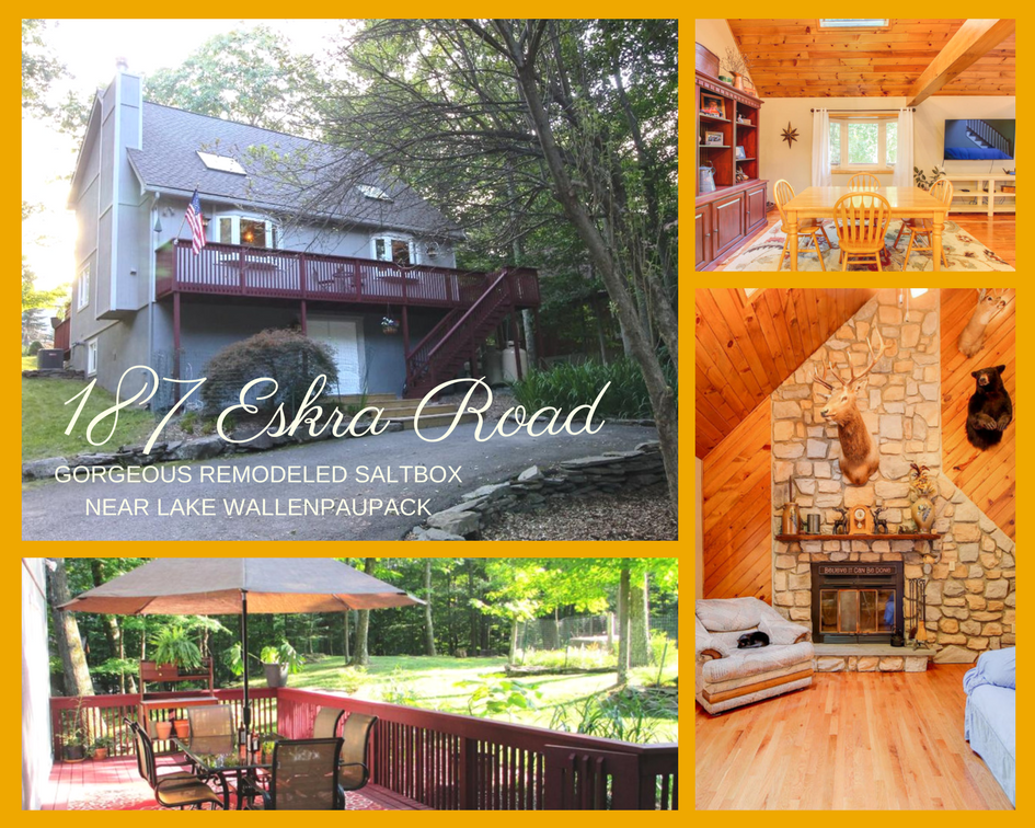 187 Eskra Road, WLE: Gorgeous Remodeled Saltbox Near Lake Wallenpaupack