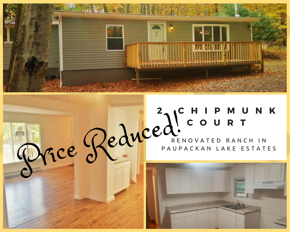 Price Reduced! 2 Chipmunk Court: Renovated Ranch in Paupackan Lake Estates