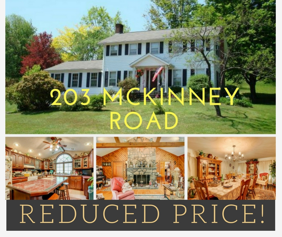 REDUCED PRICE! 203 McKinney Road: Waymart Colonial on 90 Acres!