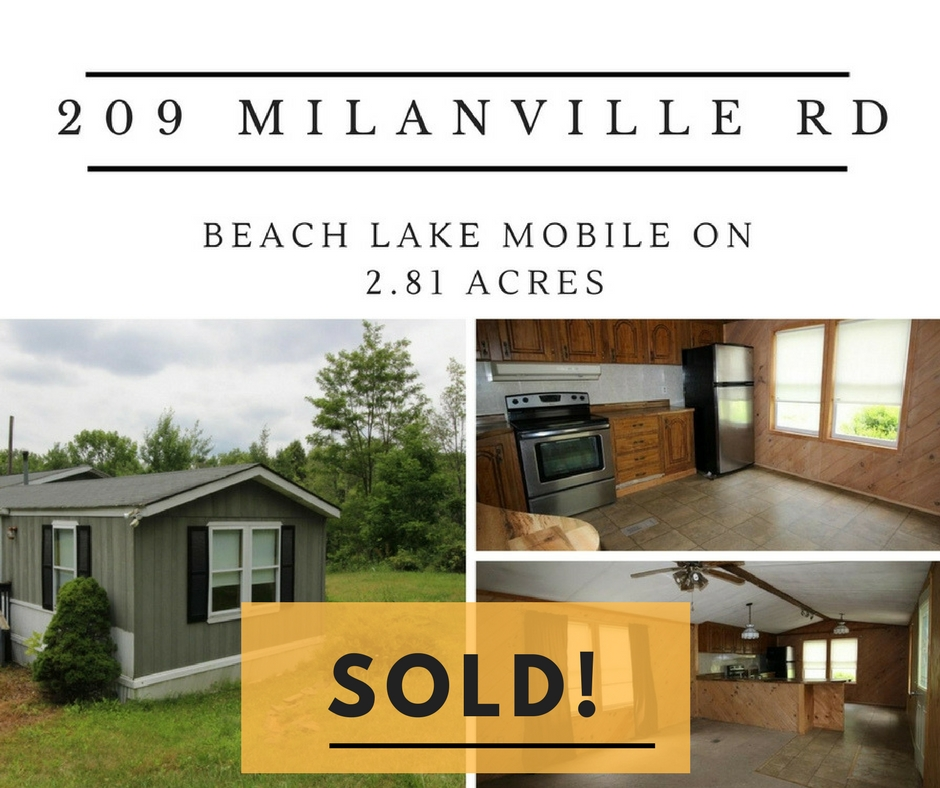 209 Milanville Sold