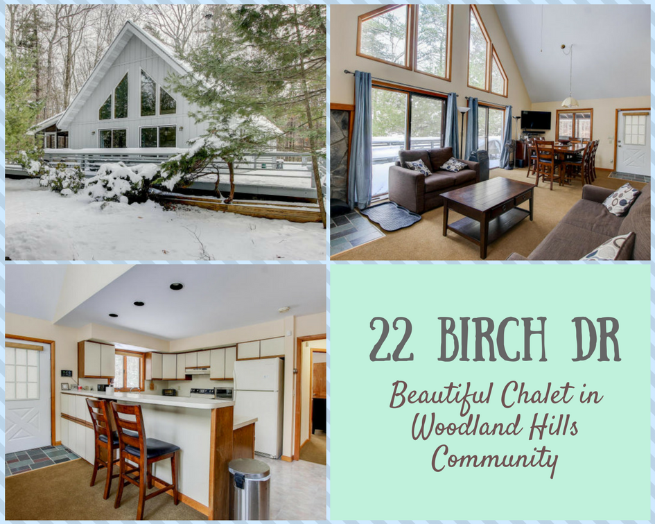22 Birch Drive: Beautiful Chalet in Woodland Hills Community