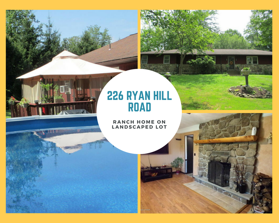 226 Ryan Hill Road, Lake Ariel PA: Ranch Home on Landscaped Lot