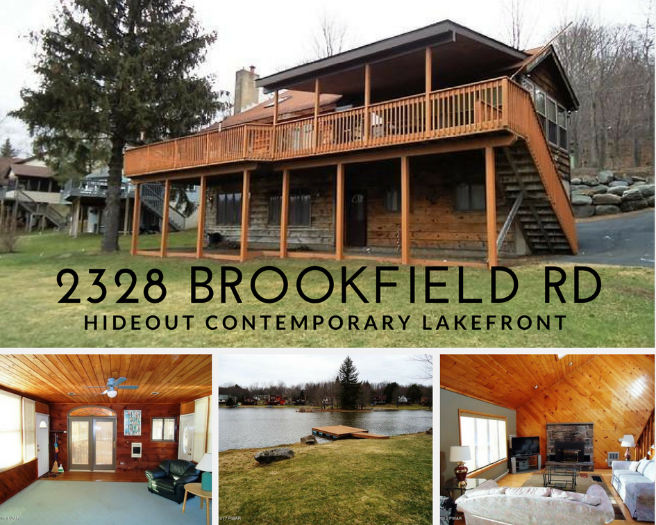 2328 Brookfield Rd, Lake Ariel PA: Hideout Contemporary Lakefront
