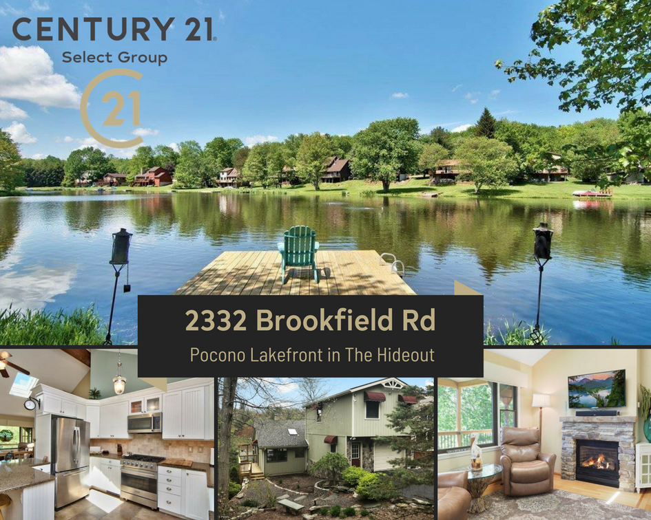 2332 Brookfield Road: Pocono Lakefront in The Hideout