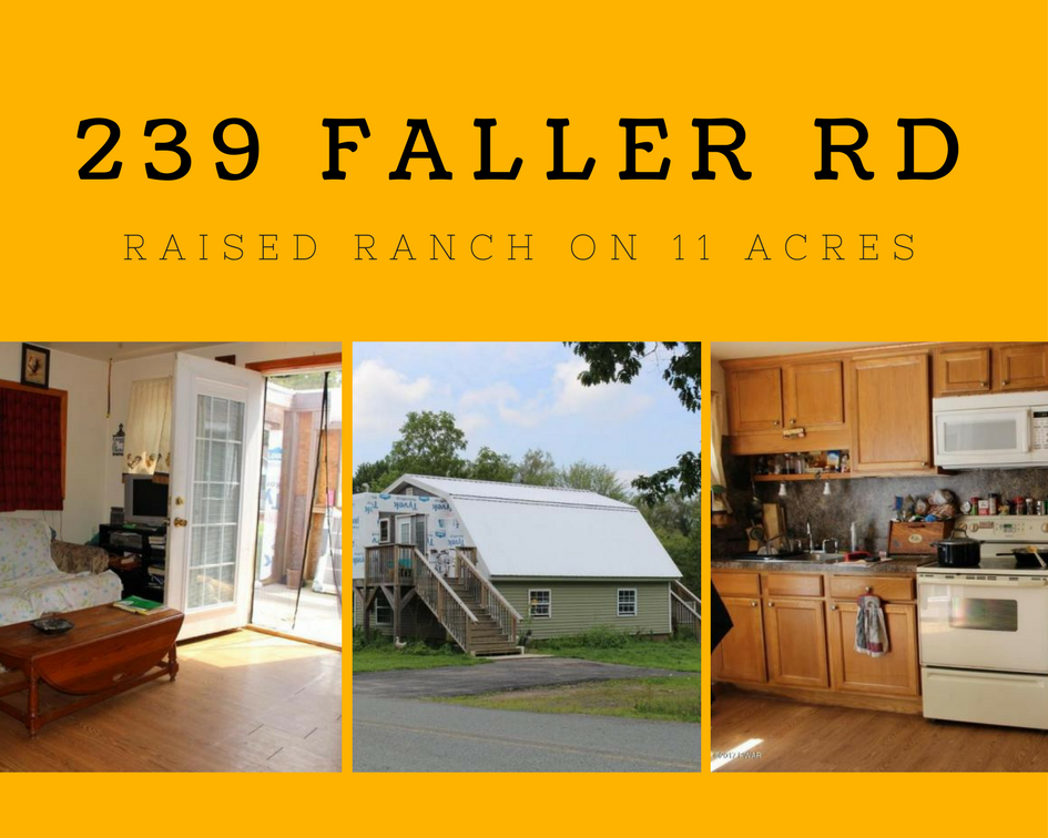239 Faller Road, Lake Ariel PA: Raised Ranch on 11 Acres