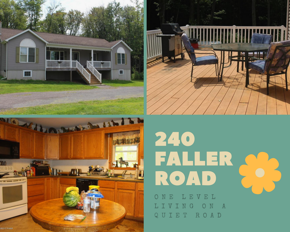 240 Faller Road, Lake Ariel PA: One Level Living on a Quiet Road