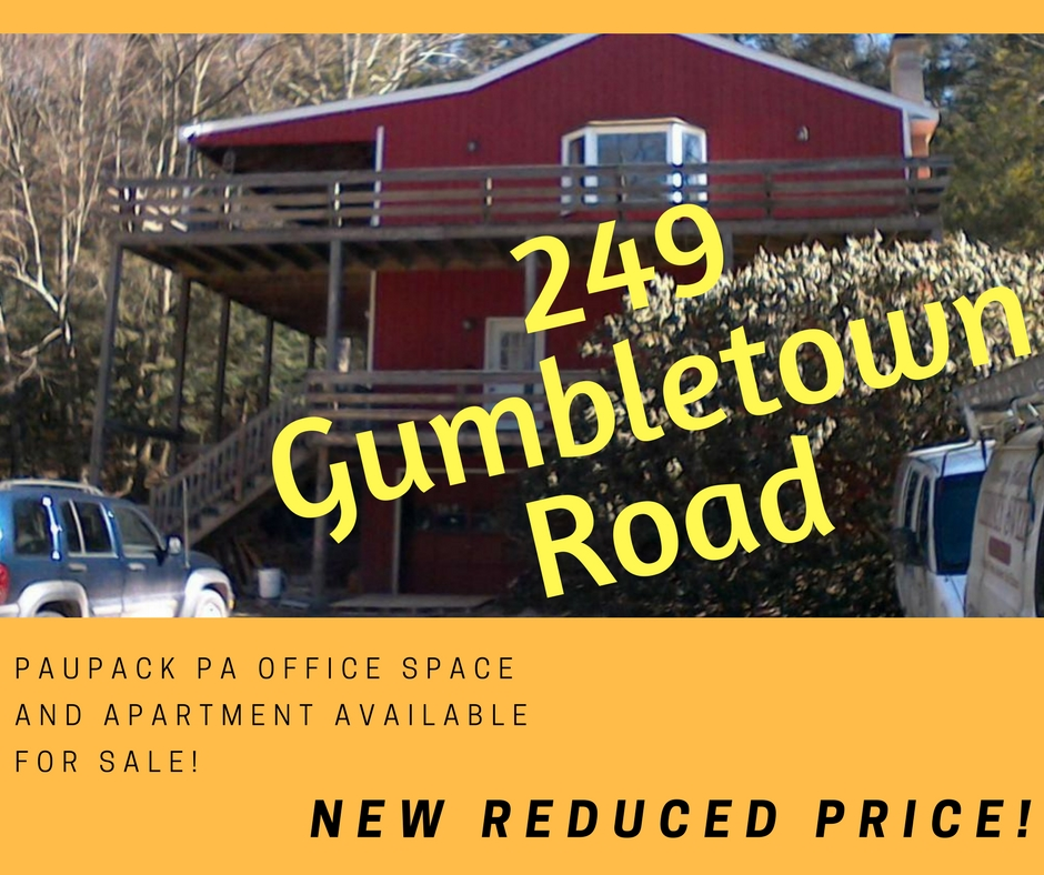 NEW REDUCED PRICE! 249 Gumbletown Road: Paupack PA Office Space & Apartment