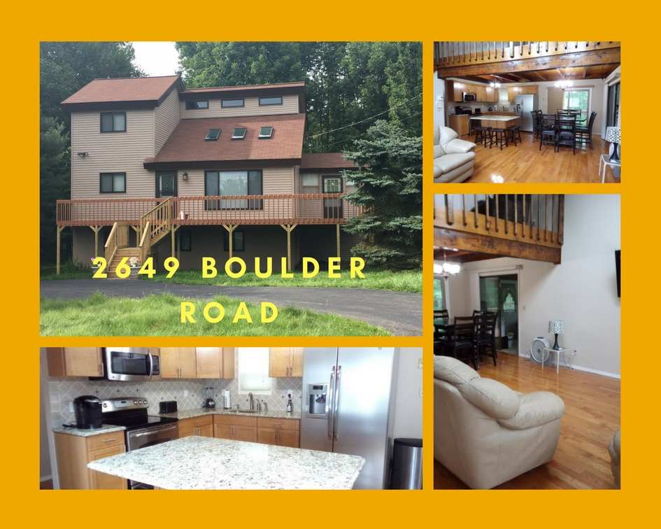 2649 Boulder Road, Lake Ariel PA: Beautiful Contemporary Home in The Hideout