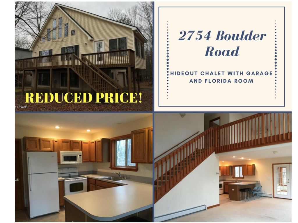 REDUCED! 2754 Boulder Road: Hideout Chalet with Garage and Florida Room