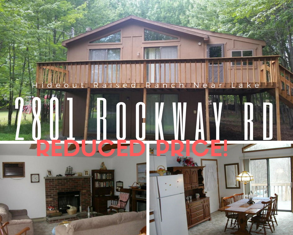 REDUCED PRICE! 2801 Rockway Road, Lake Ariel PA: Hideout Raised Ranch Near Lake