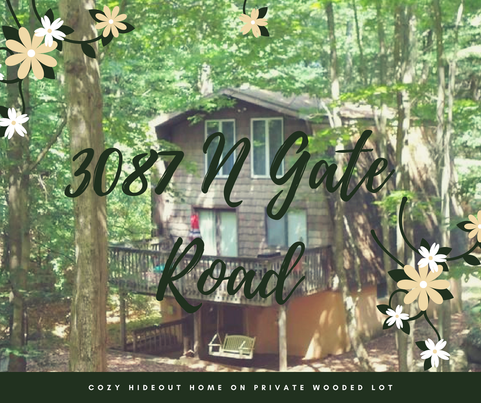 3087 N Gate Road: Cozy Hideout Home on Private Wooded Lot