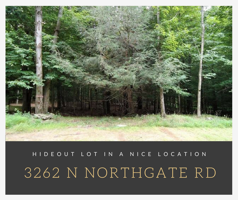 3262 N Northgate Rd, Lake Ariel PA: Hideout Lot in a Nice Location