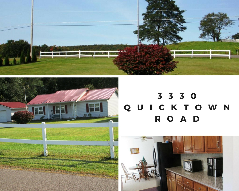 3330 Quicktown Road: Madison Twp Ranch Home on 3 Acres