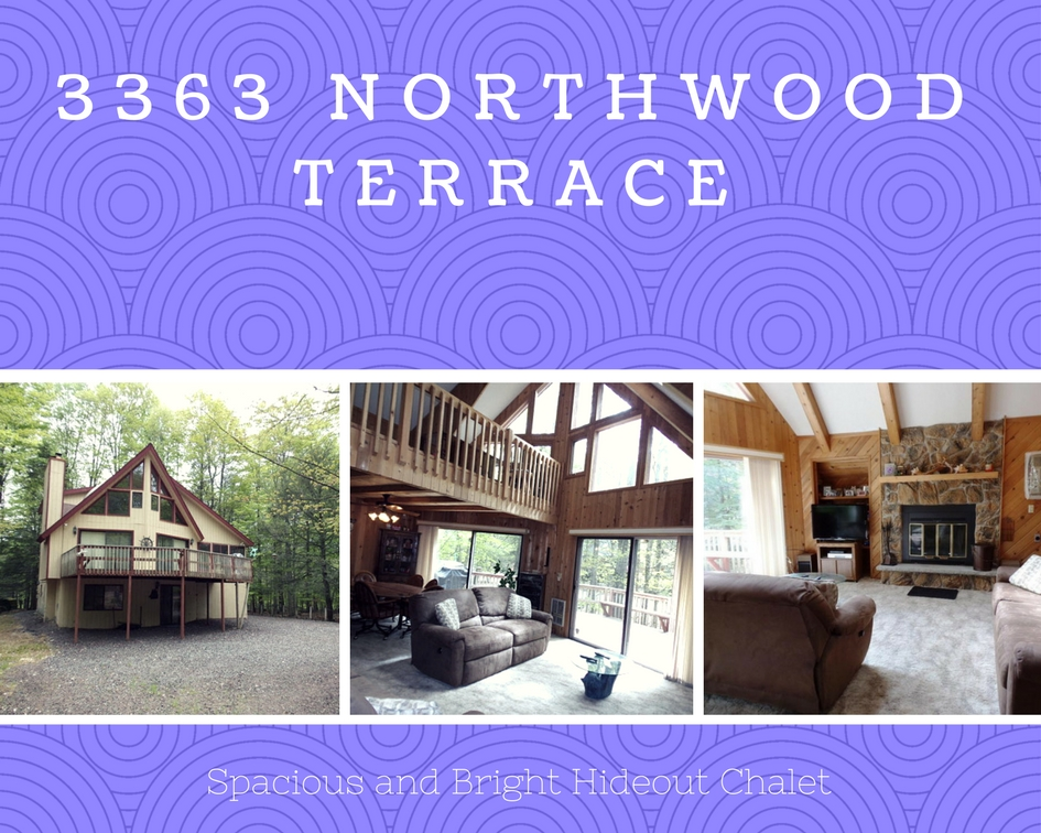 3363 Northwood Terrace: Spacious & Bright Hideout Chalet