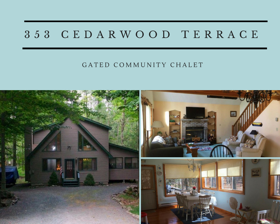 353 Cedarwood Terrace: Charming Gated Community Chalet