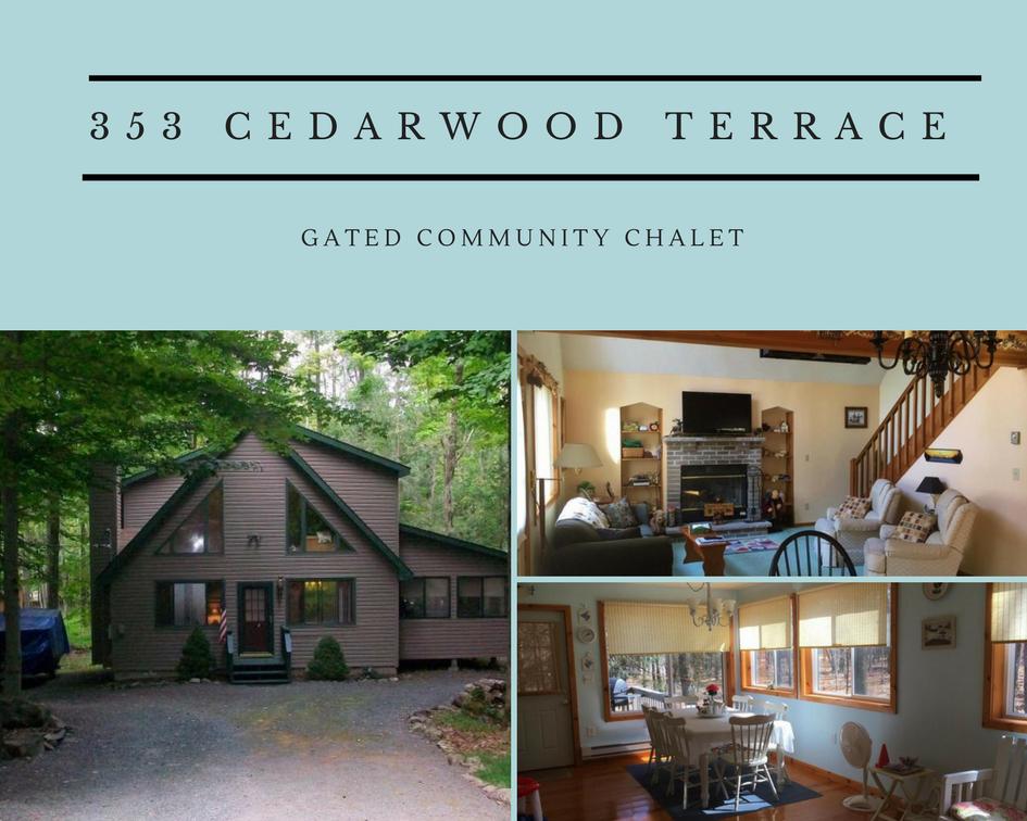 353 Cedarwood Terrace: Charming Gated Community Chalet