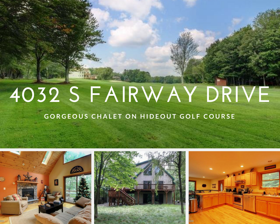 4032 S Fairway Drive, Lake Ariel PA: Gorgeous Chalet on Hideout Golf Course