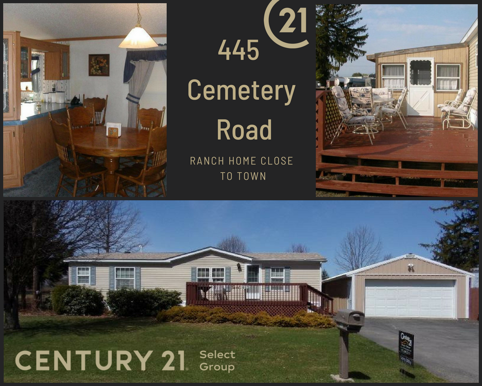 445 Cemetery Road: Ranch Home Close to Town