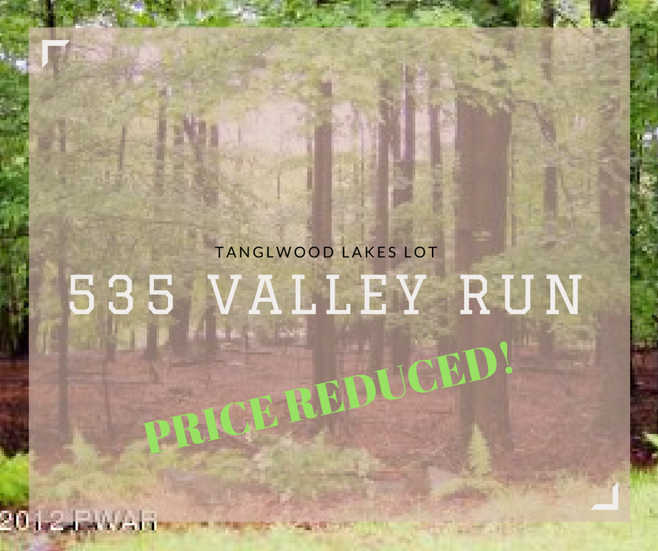 PRICE REDUCED! 535 Valley Run, Greetown PA: Tanglwood Lakes Lot