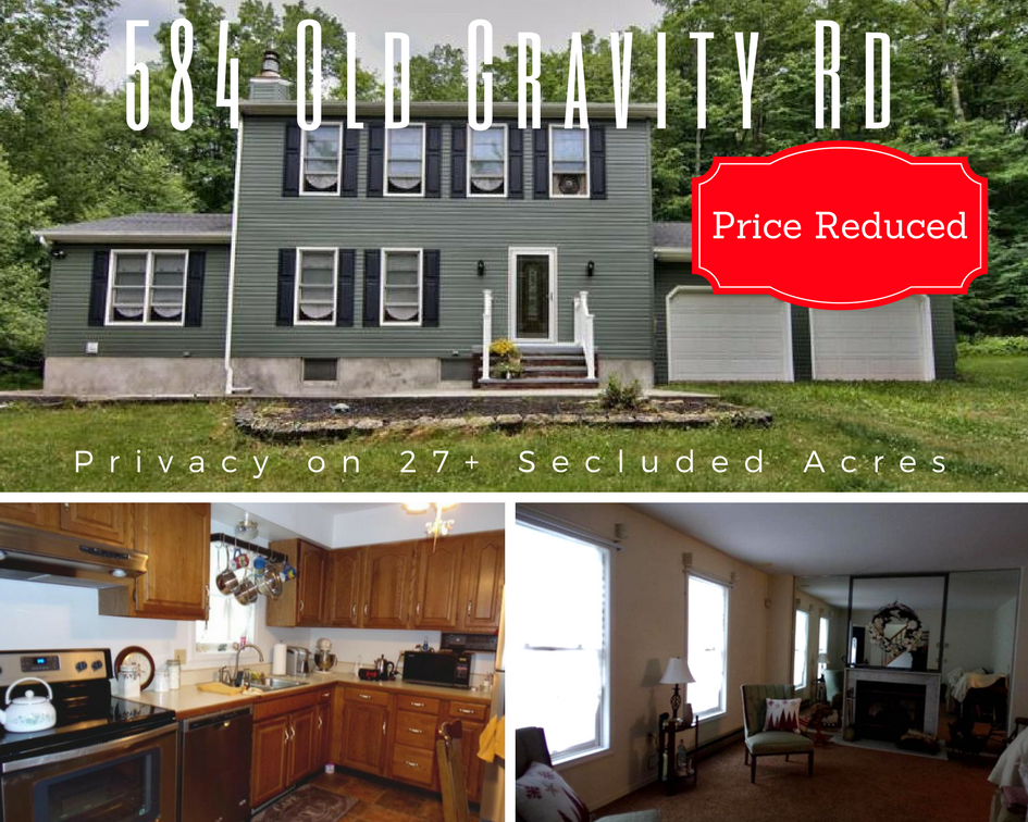 Price Reduced! 584 Old Gravity Rd, Lake Ariel PA: Privacy on 27+ Secluded Acres