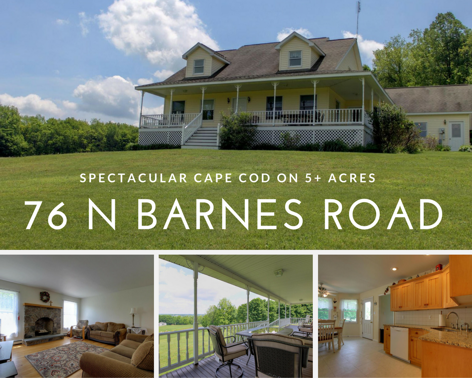 76 N Barnes Road, Moscow PA: Spectacular Cape Cod on 5+ Acres!