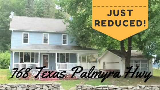 Just Reduced! 768 Texas Palmyra Highway, Hawley PA: Farmhouse on 4+ Acres