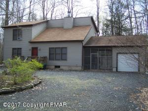 two lots, 1 home, garage, just reduced $2,000...walk to heated choctaw pool in Arrowhead Lakes, Pocono Lake, PA