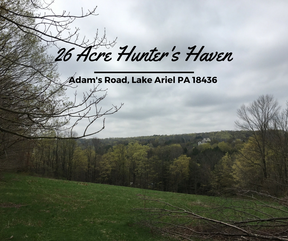 Adams Road, Lake Ariel PA: 26 Acre Hunter's Haven in Lake Ariel