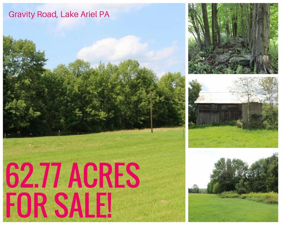 Gravity Road, Lake Ariel PA: 62 Acres For Sale