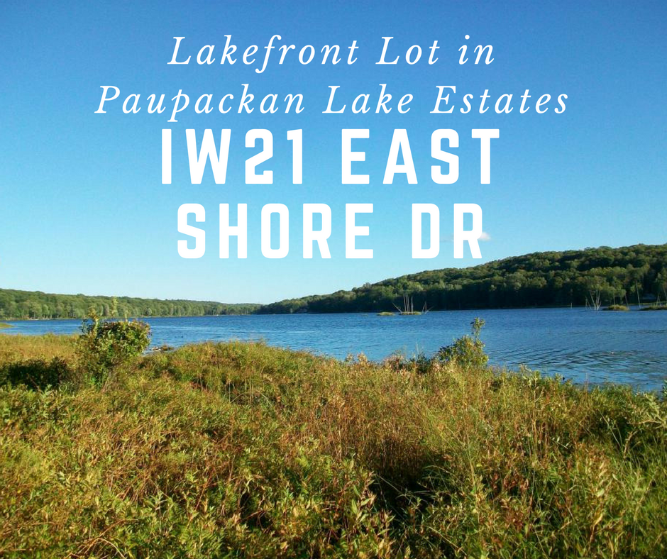 IW21 East Shore Drive,  Hawley PA: Lakefront Lot in Paupackan Lake Estates