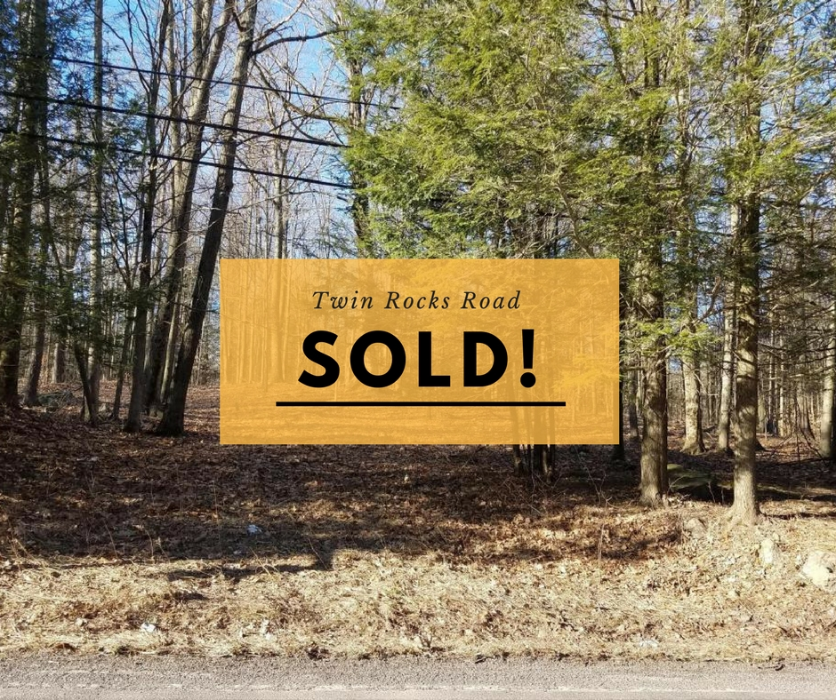 Sold! Twin Rocks Road; Sterling PA