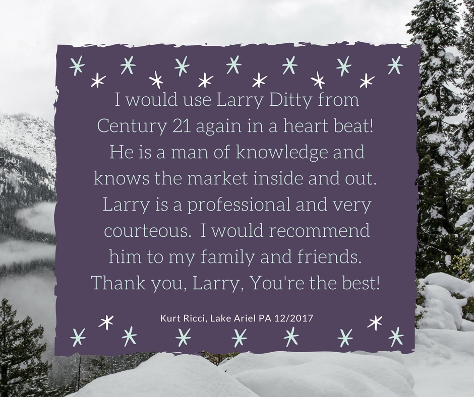 Kind Words for Larry Ditty!