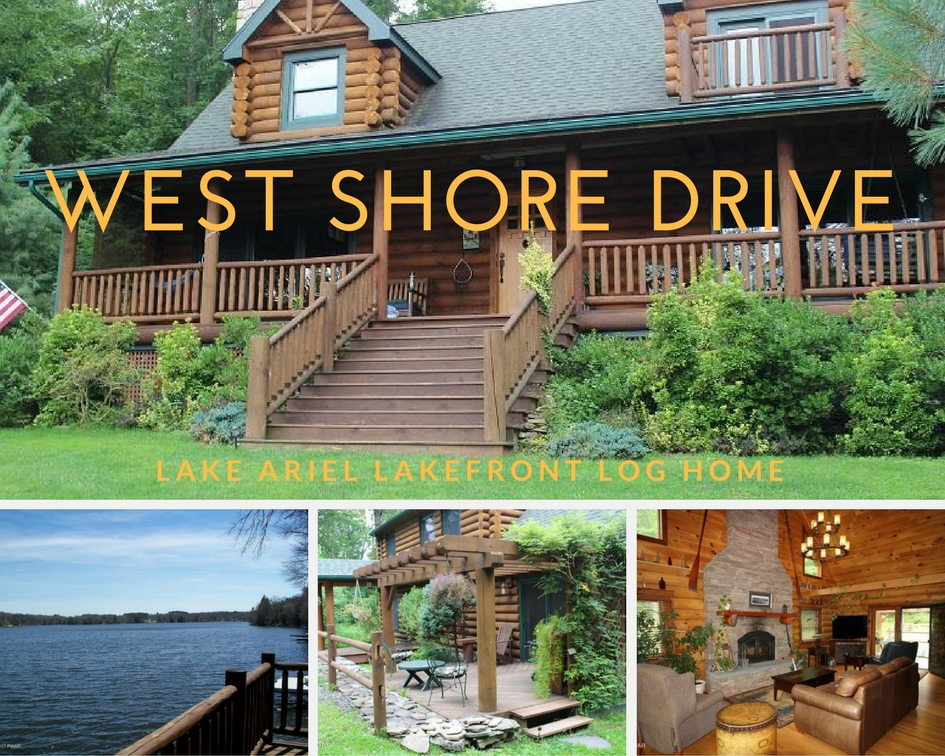 West Shore Drive: Lake Ariel Lakefront Log Home