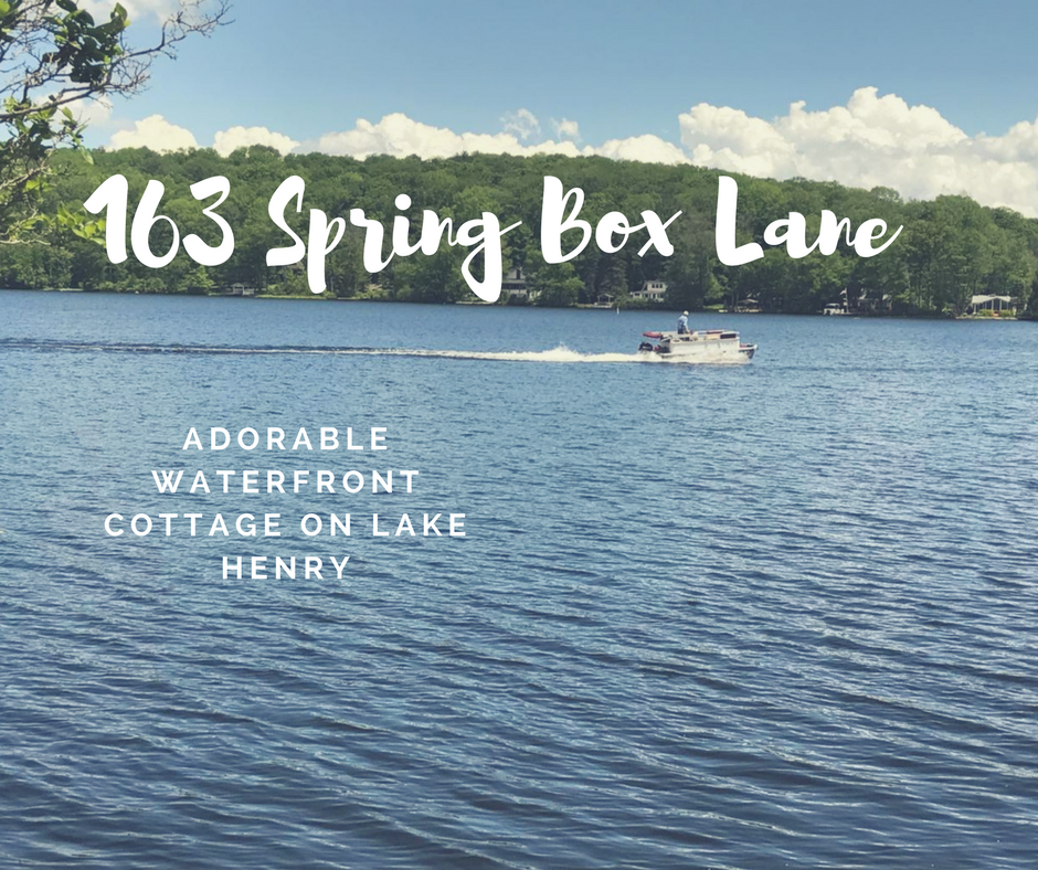REDUCED! 163 Spring Box Lane: Adorable Waterfront Cottage on Lake Henry