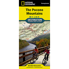 The Pocono Mountains Destinations Map National Geographic
